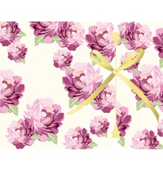 Pink flowers Card background vector image vector image