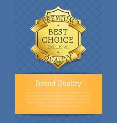 brand quality exclusive best premium golden label vector image vector image