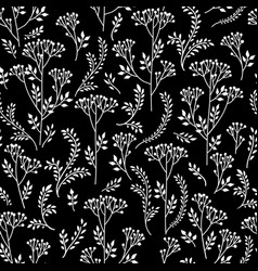 floral pattern with leaves and flowers ornamental vector image