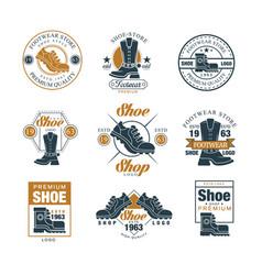 Footwear store logo set shoe style premium vector