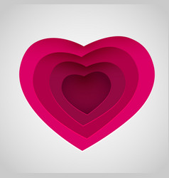 love heart form paper cut style valentines day vector image