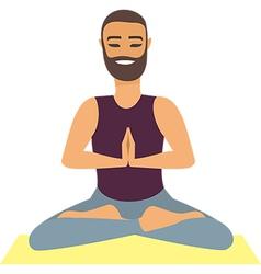 Man doing yoga vector image vector image