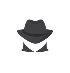 Picture of a secret agent Spy logo vector image vector image