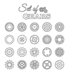 set of linear gears vector image
