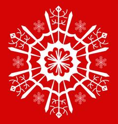 snowflake white vector image