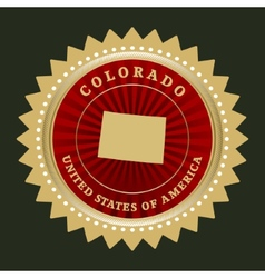 Star label Colorado vector image