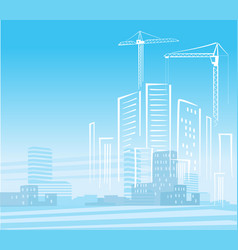 abstract city development vector image