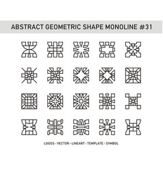 Abstract geometric shape monoline 31 vector