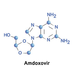 amdoxovir treatment of hiv aids vector image