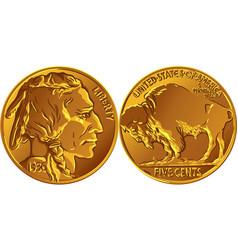 american buffalo gold coin vector image