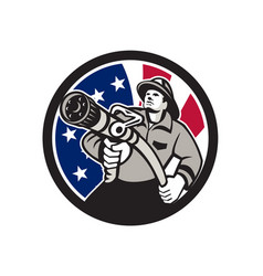 American fireman usa flag icon vector