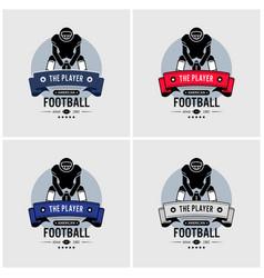 american football club logo design artwork of vector image