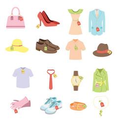 apparel sale tags vector image