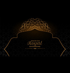 Arabic mandala style decorative pattern background vector