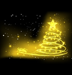 background Christmas design vector image