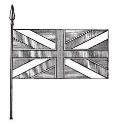 Blazon of union flag vintage vector