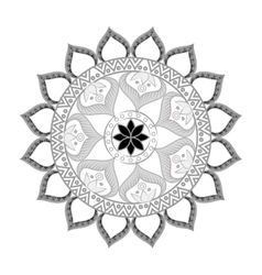 Bohemian mandala ethnic decoration vector