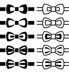 bow tie black white symbols vector image