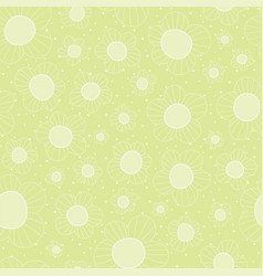 bright lime lined flowers seamless pattern vector image