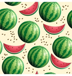 Bright seamless wallpaper with watermelon vector image