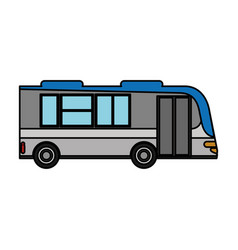 bus transport urban public vector image