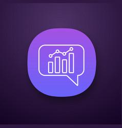 Chatbot graph app icon vector