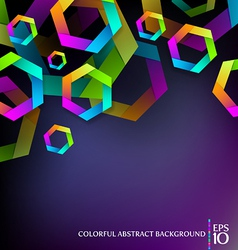 Colorful hexagons vector