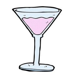 Comic cartoon cocktail vector