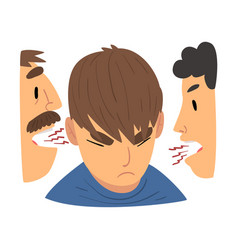 conflict with parents angry mother and father vector image