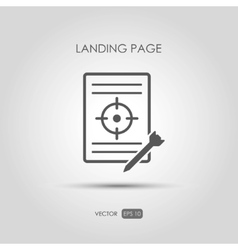 Copywriting icon Landing page in linear style vector