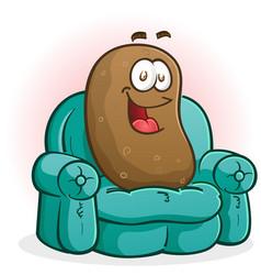 Couch potato cartoon character vector
