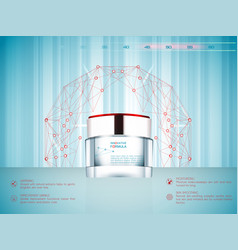 Cream jar skin care product package vector