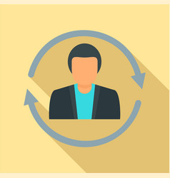 Customer retention icon flat style vector