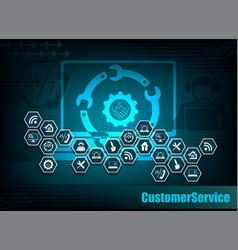 Dark blue internet background vector