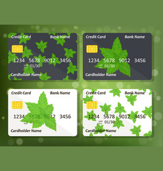 Design for credit card with mint vector