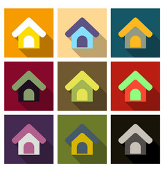 Doghouse icon style designed for web and software vector