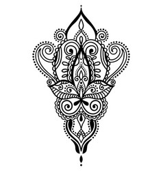 Ethnic paisley hand draw tattoo design henna vector