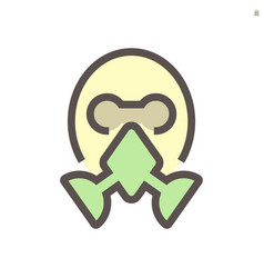 face masks prevent disease icon design 48x48 vector image