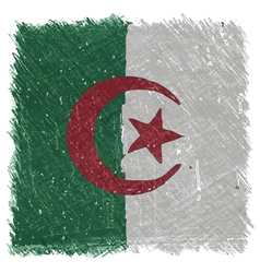 Flag of Algeria handmade square shape vector