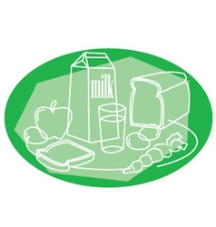Food groups vector image
