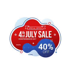 fourth july usa independence day sale banner vector image
