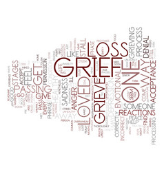 From grief to joy text background word cloud vector