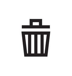 garbage - black icon on white background vector image