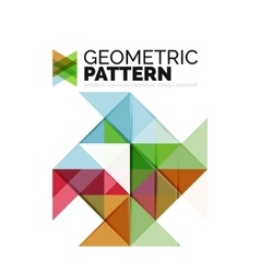Geometric triangle mosaic pattern element isolated vector image