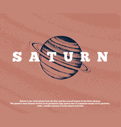 hand drawn saturn planet vector image