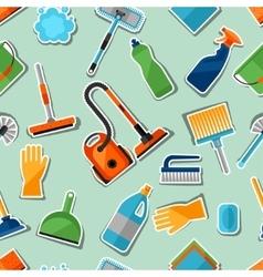 Housekeeping lifestyle seamless pattern vector