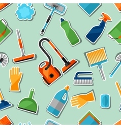Housekeeping lifestyle seamless pattern with vector