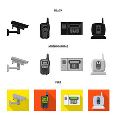 Isolated object office and house icon set of vector