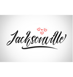 Jacksonville city design typography with red vector