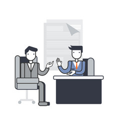 Job interview discussion vector